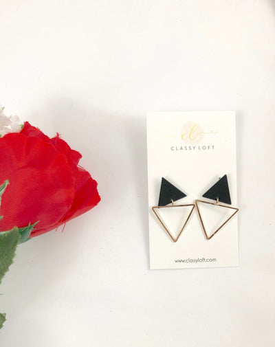 Double Triangle Stud Earrings