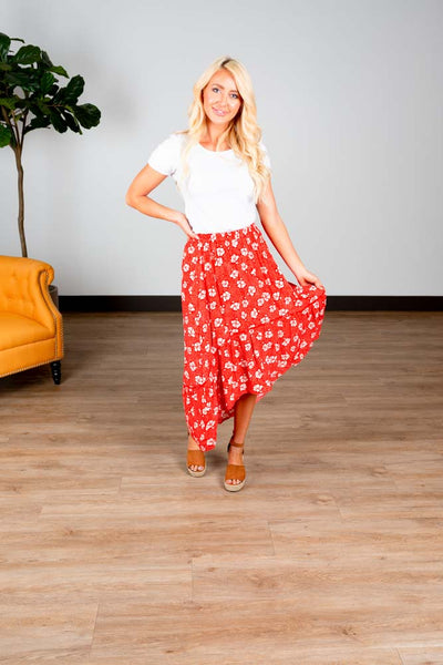 Bloom High Low Floral Skirt