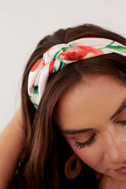 Peony Watercolor Hair Scarf