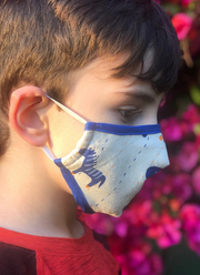 PREMIUM Blue Pony Child Protective Face Mask