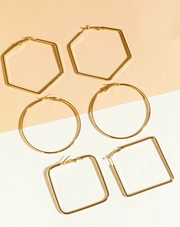 Shapes 3-pc  earrings set