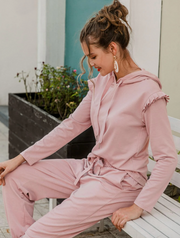 Lizzie Pink Two-Piece Pants Set