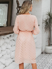Golden Dots Midi Dress