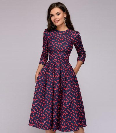 Garden of Grace Ditsy Midi Dress