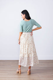 Shining Moment Floral Tiered Skirt
