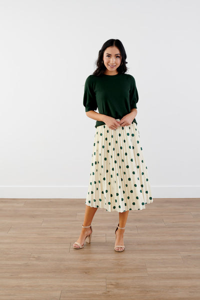 Doing Fine Polka Dot Midi Skirt