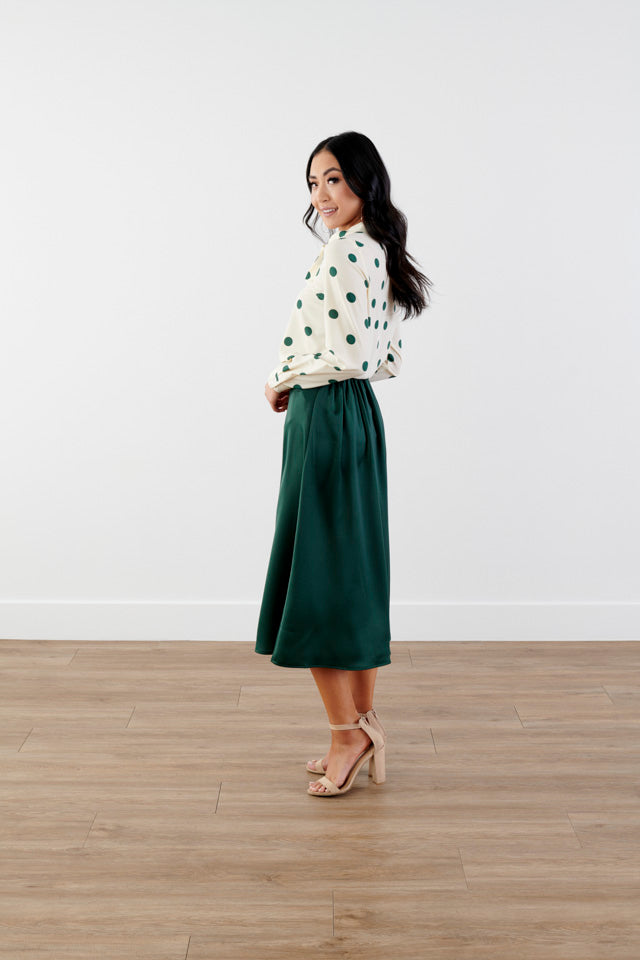 Wow Silky Midi Skirt