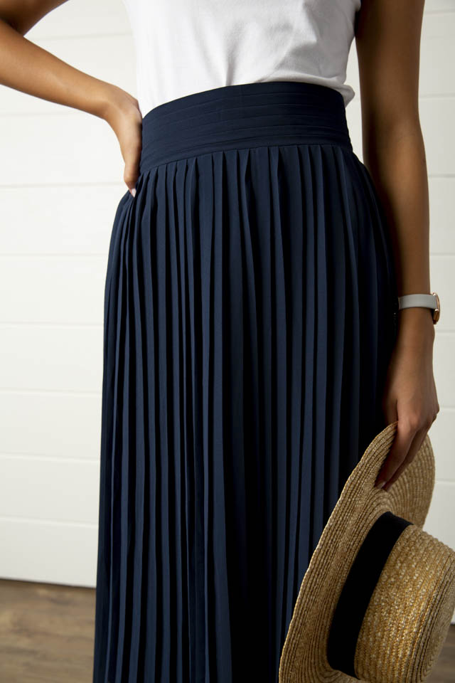 Perfect Pleats Midi Skirt