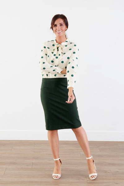 Fashionista Green Pencil Skirt