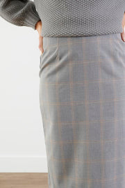No Labels Grey Plaid Pencil Skirt