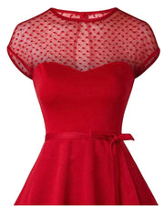 Red Lace Hearts Dress