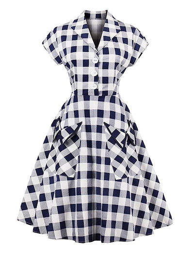 Crush on Plaid Vintage Inspired Dress