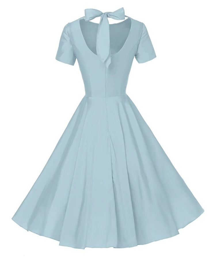 The Madonna Back Bow tie Solid Dress