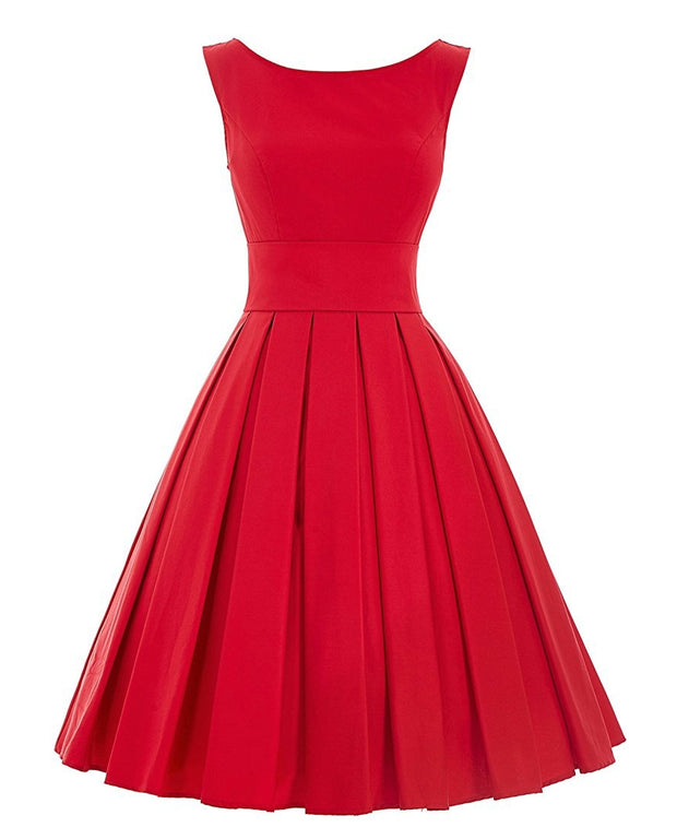 The Serena Pleated Midi Dress