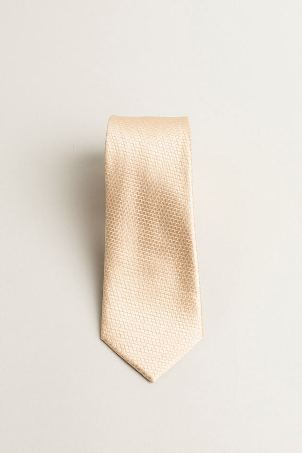 Cotton Skinny Solid Gold Tie