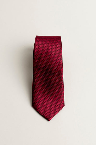 Cotton Skinny Solid Burgundy Tie