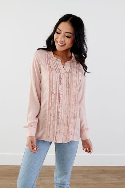 Stay Cheerful Ruffle Top