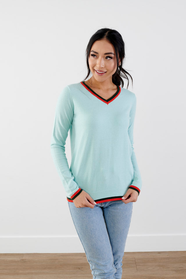 Peppy Days V-Neck Sweater