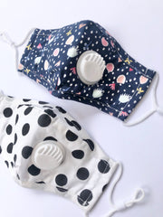 Girly Printed Valve Face Mask with Filter