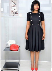The Andrea Double Button Dress