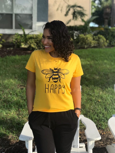 Comfy Bee Happy Tee Top