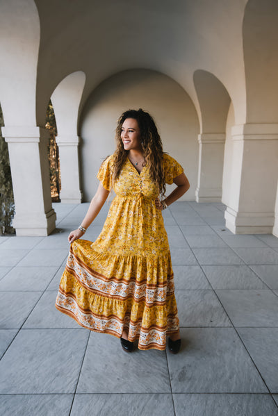 Good Vibes Boho Maxi Dress