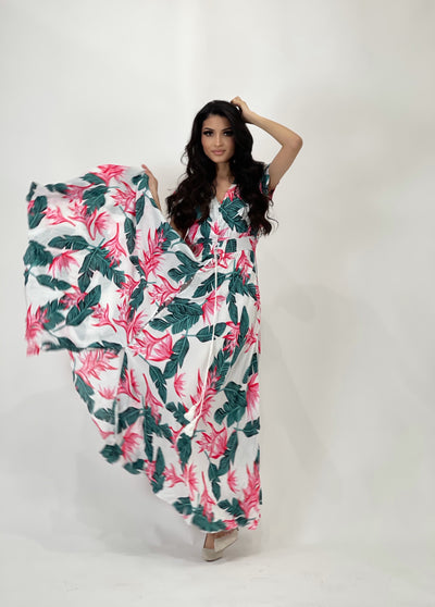 Sunshine Leaf Maxi Dress