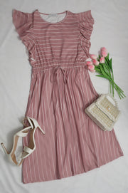 Lifestyle Pink Striped Dress