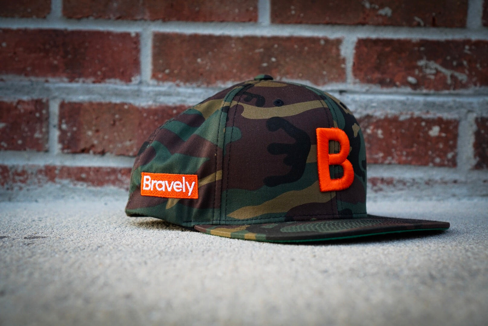Bravely Mini-Logo Snapback Hat