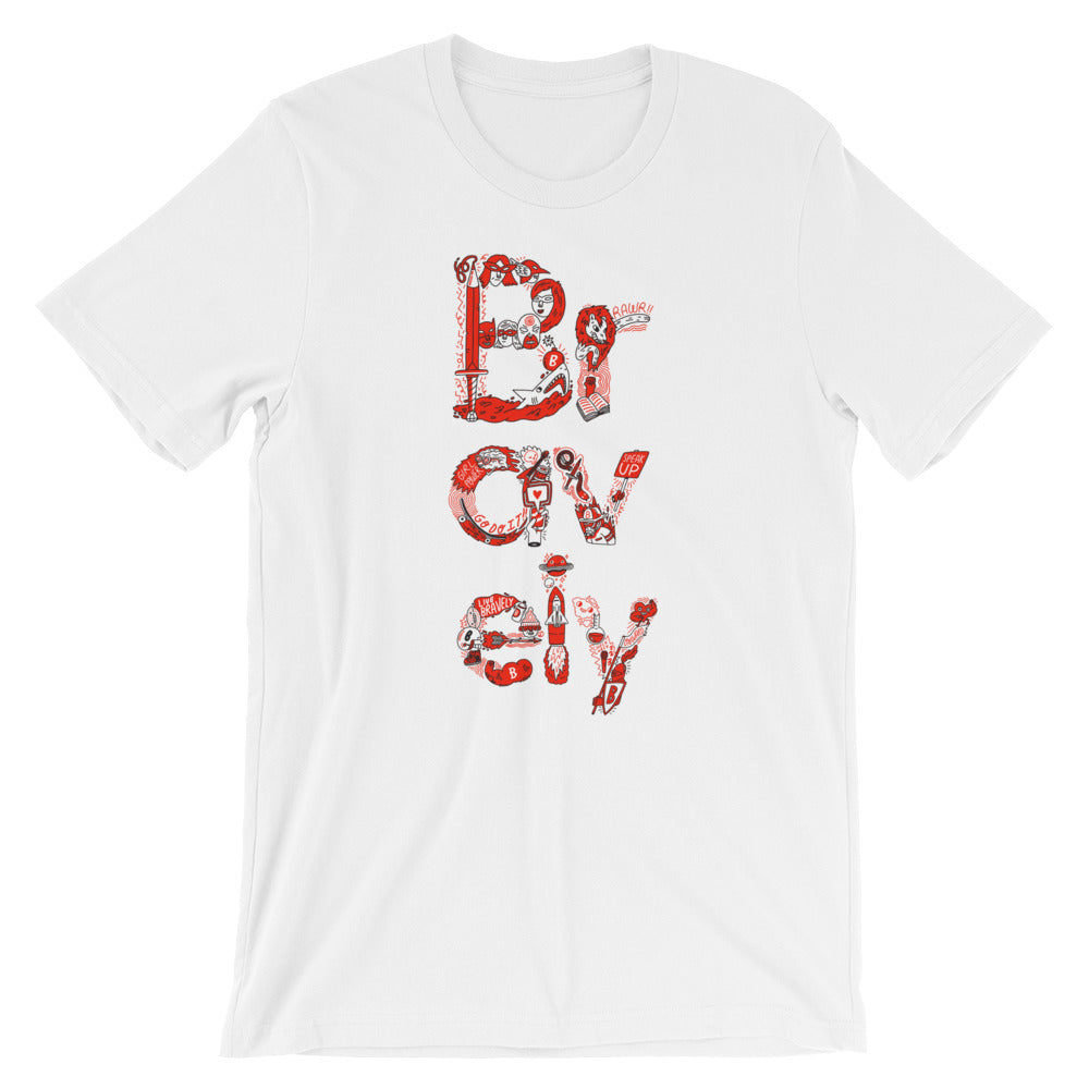 Bravely x Beardy Glasses T-Shirt: Courage Illustrated