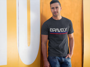 NASA x Bravely Retro Worm Logo Mashup T-Shirt