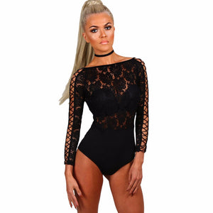 Queenie Long Sleeve Lace Bodysuit