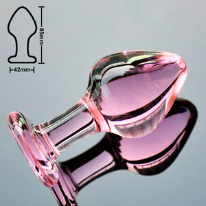 J'adore Pink Crystal Butt Plugs