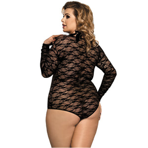 London Sexy Lace Chiffon Bodysuit