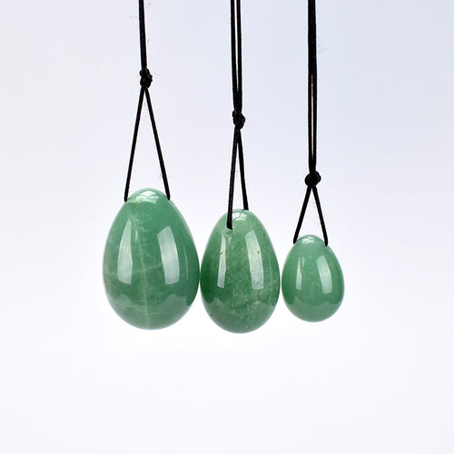 Green Aventurine Jade Yoni Egg Set