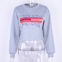 Good Girls Bad Girls Cropped Sweatshirt