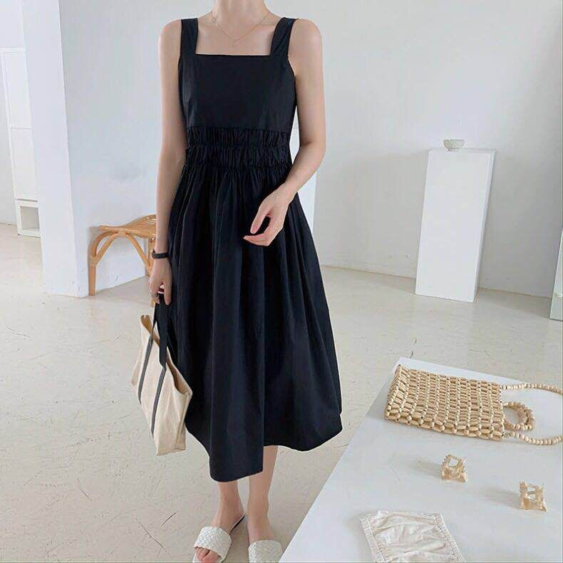 Ava Ruched Dress Black