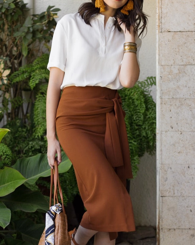 Layla Pencil Sash Skirt