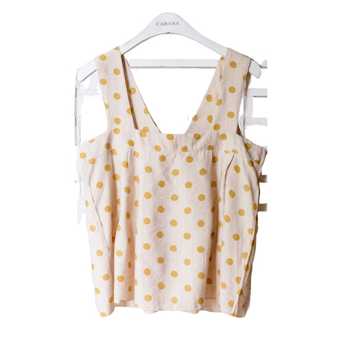 Lulu Polka Top Yellow