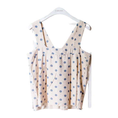 Lulu Polka Top Blue
