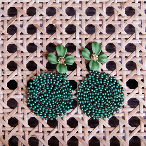 Saffy Green Earrings