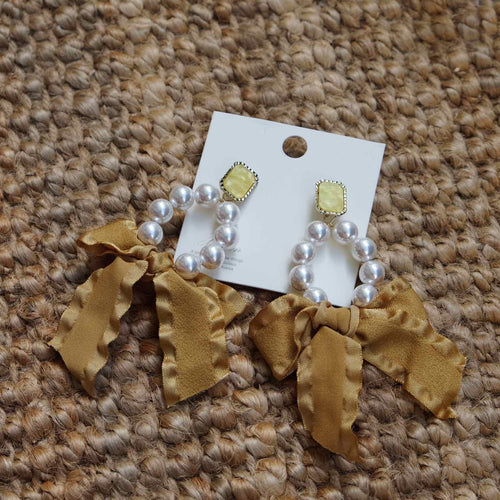 Caitlin Yellow Earrings