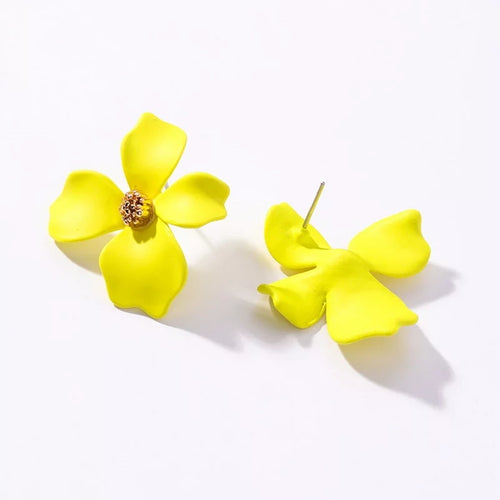 Stein Earrings Yellow