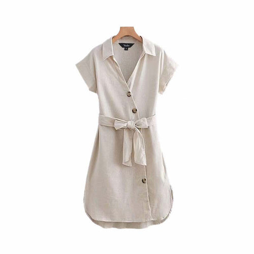 Charley Button Shirt Dress