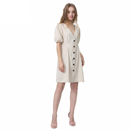 Isa Button Mini Dress