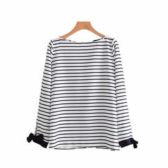 Cabeza Tie Back Stripe Blouse
