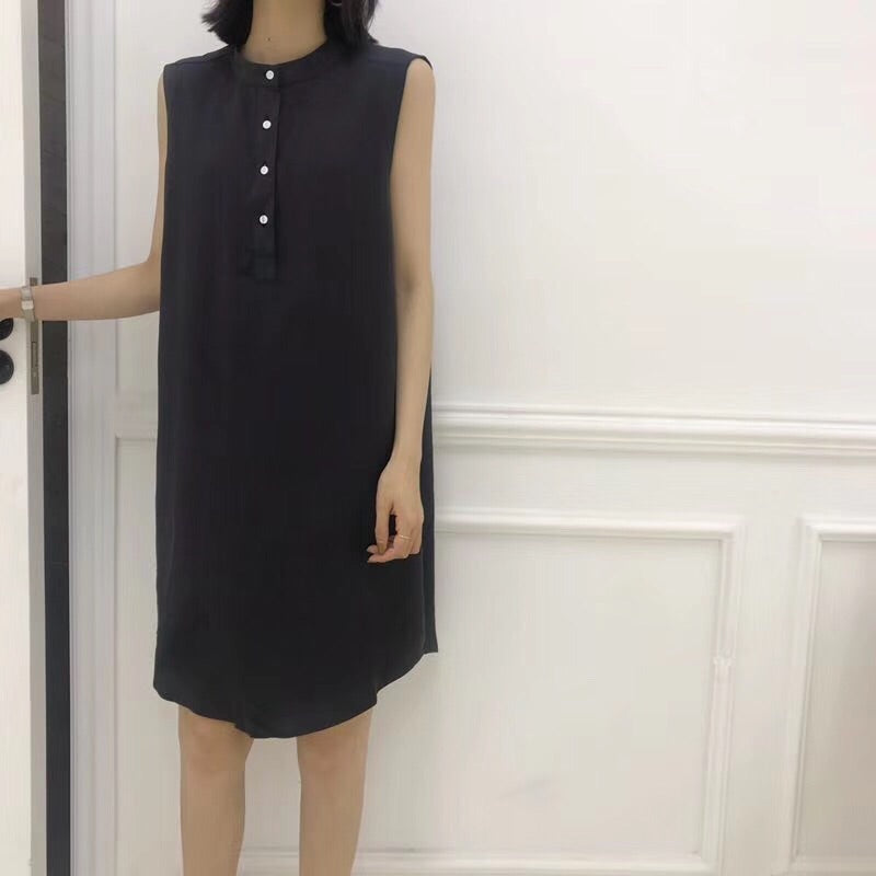 Varvara Button Dress Khaki