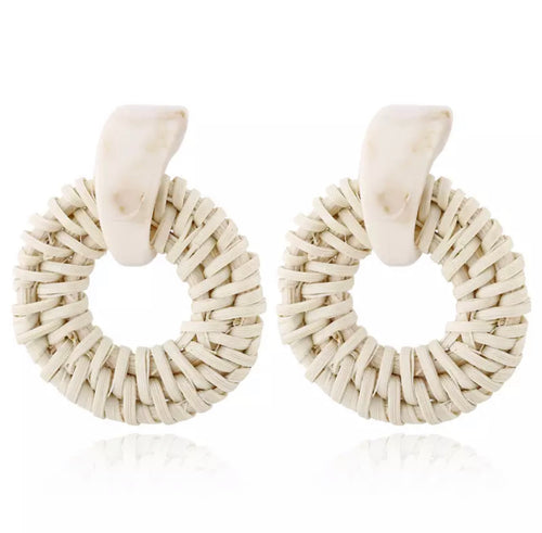 Kora Rattan Resin Earrings