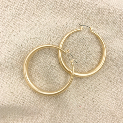 Golda Matte Gold Earrings
