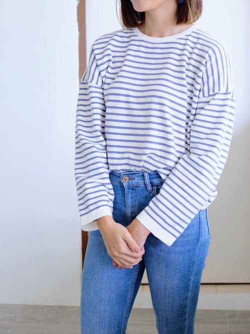 Jamie Stripe knit top - Blue